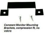 metal mounting bracket for the ST or DT 020 series esd constant monitors