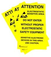 Hard To Miss Jedec 14 Style Esd Warning Signs Alert Personnel