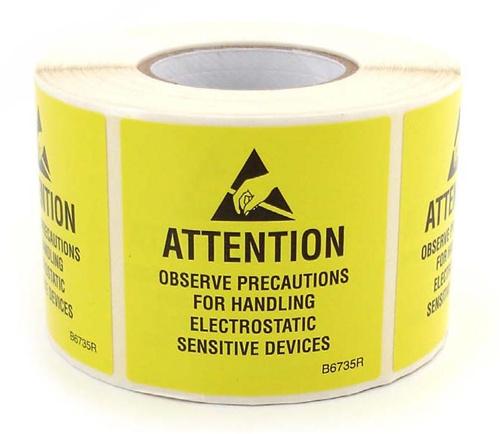 Esd Warning Labels Provide Warnings For Static Sensitive