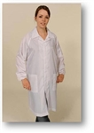 Full Length Anti Static Lab Coat with Zipper Front and Self Adjusting Elastic Cuffs