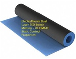 Heat Resistant ESD Mat Control Static. For use on table tops and bench tops. Perfect for soldering stations or around other heat sources