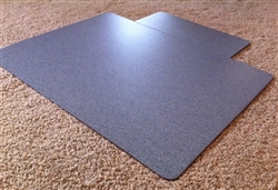 Mission Critical ESD Chair Mat for use over ALL Types of Carpeting Compliant to latest ANSI Standards - The portable ESD Flooring Solution for your Workstation!