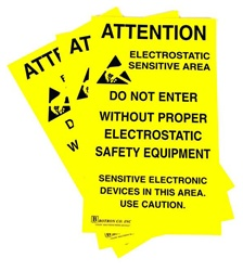 Hard To Miss! JEDEC-14 style ESD Warning Signs Alert Personnel