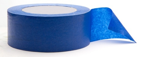 "3""x 60 yd Roll Blue Painters Tape"