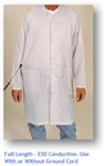 ElectraWear Full Length ESD Lab Coat Provides Advanced Conductivity and Ultimate Static Control